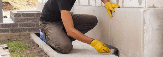 Man Repairing a Concrete concrete surface Alpharetta GA